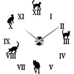 Uhr an der Wand einer Katze DIY CAFORD