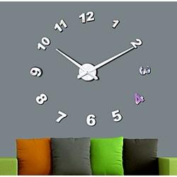 Wandtattoo Uhr Jede Minute  Spiegel Zahlen DIY NOSPEN