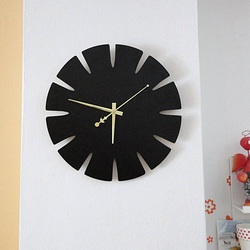 Wandtattoo Uhr Ich Wanduhr aus Holz von HDF SPECTRA