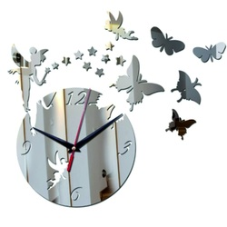 Clock on the wall of the mirror fairy DIY adhesive HOPII