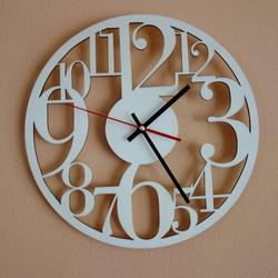 Wandtattoo Uhr Für die schönsten Momente Holz, Sperrholz