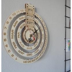 Wandtattoo Uhr Kreative Holz mit Laser graviert KALENDER