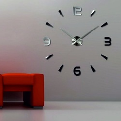 Wanduhr Spiegel Kleber 3D DIY Foam Huawet Wandtattoo Uhr