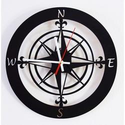 Wandtattoo Uhr Wanduhr der Weltseite GUALD