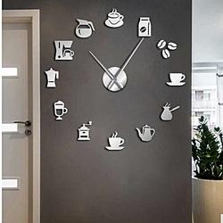 Wanduhr Spiegelbindung Moderne Uhr Kaffee Kaffee ZRNO