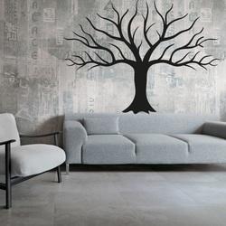 Wand Holzdekoration aus dem Sperrholz des Herbstbaums Wandtattoo Uhr Modernes Design
