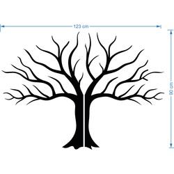 Wandtattoo Modernes Design Dekoration aus Sperrholz Herbst Baum Größe: 900 x 1233 mm