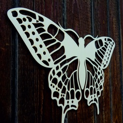 XL 750 X 459 mm. Night butterfly carved from LEOPARTID wood plywood