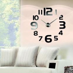 Wandtattoo Uhr Modernes Design Schwarz Wanduhr Reichtum