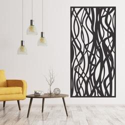 Hölzerne Dekoranstrich auf einer Wand des Furnierholzes HARABASO