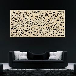 Holzbild an einer Wand aus Sperrholz Topol Speckle