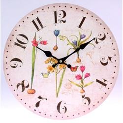 Clock aus Holz MDF Blumen und Schmetterlingen. Fi 30 cm