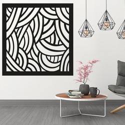 Das Bild der Wand in einem Schlafzimmer aus geschnitztem Sperrholz PAPAGACI