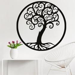Dekoration an der Wand eines hölzernen Bildes des Baumlebens des Furnierholzes Julka