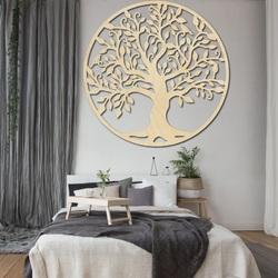 Dekoration an der Wand eines Baumes des hölzernen Bildes des Lebens des Furnierholzes FAMILIE