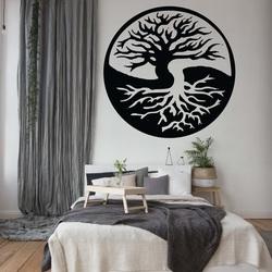 Wandbild eines Baumes aus Sperrholz BALANCE