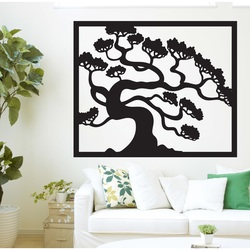 Hölzernes Bild einer Wand einer hölzernen Sperrholzpappel des Bonsaibaums   Drázský