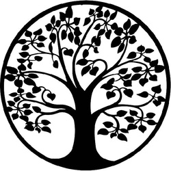 Modernes Bild einer Baumringwand hergestellt vom hölzernen Furnierholz LONITIF