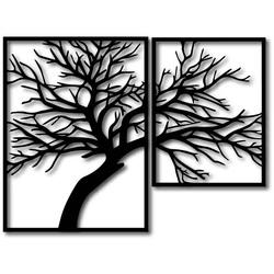 STYLESA Holzbild auf Sperrholz Das Bild besteht aus zwei Teilen Wandtattoo  und schwarz PR0220