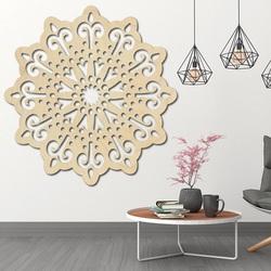 STYLESA modernes Gemälde an der Wand einer Blume aus Sperrholz BELFON schwarz