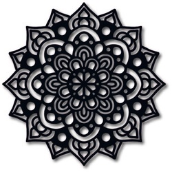 STYLES Wandtattoo Uhr Modern Wandmalerei Mandala aus Sperrholz OFRODIL schwarz