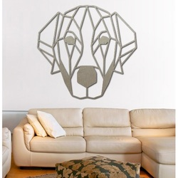 STYLESA moderner Wandmalereihund aus Sperrholz PR0229 HAFFF schwarz Wandtattoo