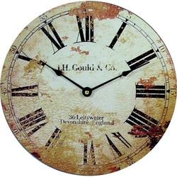 Drevené hodiny Retro edícia. Materiál: MDF, rozmer: Fi 15 cm ROMANOV