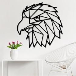 STILESA Geschnitzte Wandmalerei geometrische Formen Adler PR0234 schwarz