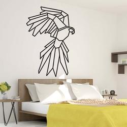 STYLES Geschnitzte Wandmalerei geometrische Formen Adler PR0235 schwarz