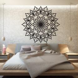 SENTOP Geschnitzte hölzerne Mandala Bild an einer Wand aus Sperrholz