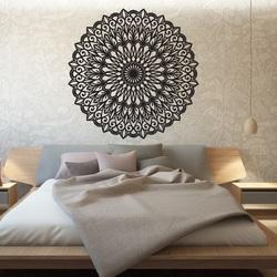 Geschnitzte Blume Holz Mandala Bild an einer Wand aus Sperrholz
