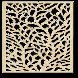 Geschnitztes Bild an der Wand eines hölzernen Sperrholzes KLIDKK