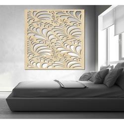 Geschnitzte Wandmalerei aus Sperrholz Blume LUPENE