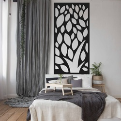 Wandmalerei aus Sperrholz geschnitzt LISTY