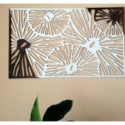 Geschnitzte Wandmalerei aus Holzsperrholz farbe Original Pappel / Braun FORGHF