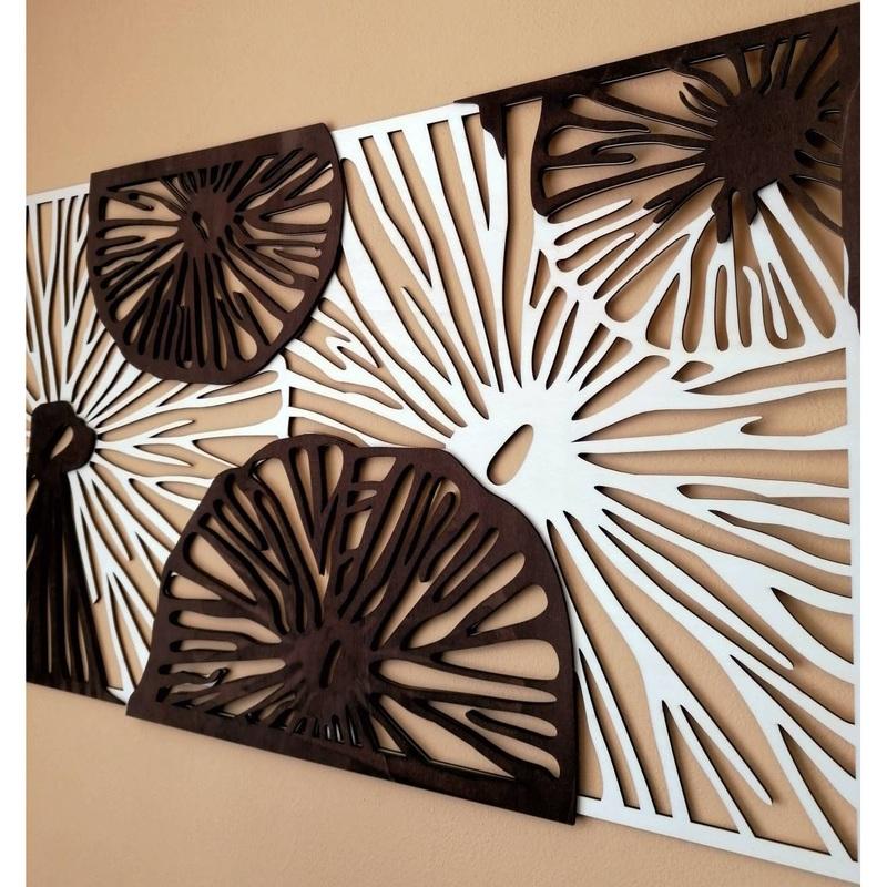 Geschnitztes Bild an der Wand aus Holz Sperrholz Farbe Original Pappel / braun POTONSFE