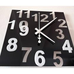 Moderne Wanduhr-Farbnummern, Farbe: Schwarz, Weiß