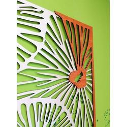 Geschnitztes Bild auf  Holz Sperrholz Wandfarbe Original Pappel / Orange ALICE