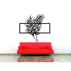Bild an der Wand aus Holz Sperrholz Silhouette Blatt PPAPRAADE