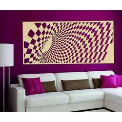 Geschmackvolles Bild an der Wand aus Holzsperrholz ÚLETT