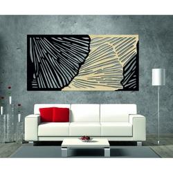 Geschmackvolles 3D-Bild an der Wand aus Sperrholz Hinterteil Pappel original, Frontfarbe nach Wahl