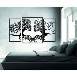 Pompöses Bild an der Wand Gesichter und Bäume