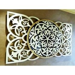 Künstlerisches Mandala Bild an der Wand aus Sperrholz Heckteil Pappel Original, Farbe des Vorderteils Ihrer Wahl