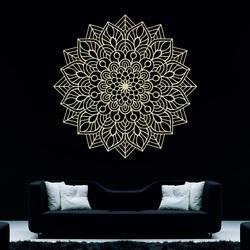 Holzmalerei an der Wand Blume der Freude Ich schnitzte Mandala aus Sperrholz