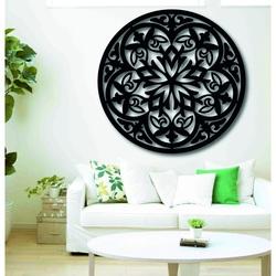 Magisches Holzmandala - Bild an der Wand