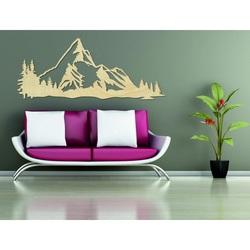 Gebirgsbild an der Wand des Natursperrholzes