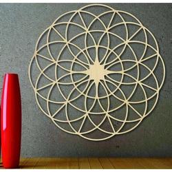 Magisches Holzmandala für die Wand - Kreise I Durchmesser FI 50, 60, 70, 80, 90, cm