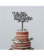 Perforierende Dekorationen für Kuchen Auf Anfrage fertigen wir Dekorationen in anderen Farben und Größen.